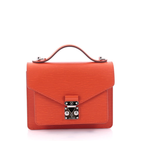 0118b37d0b60 Buy Louis Vuitton Monceau Handbag Epi Leather BB Orange 2550915 – Rebag