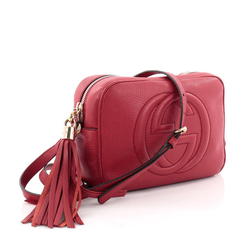 b82cd32ab33ad8 Buy Gucci Soho Disco Crossbody Bag Leather Small Red 2555101 – Rebag
