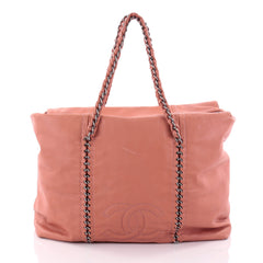 Chanel Luxe Ligne ZIp Top Tote Calfskin Large Pink 2557603