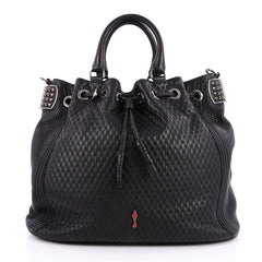 Christian Louboutin Dompteuse Bucket Bag Quilted Leather Black 2557701
