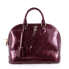 Louis Vuitton Alma Handbag Monogram Vernis PM Red 2567203