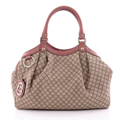 Gucci Sukey Tote Diamante Canvas Medium Brown 2568807