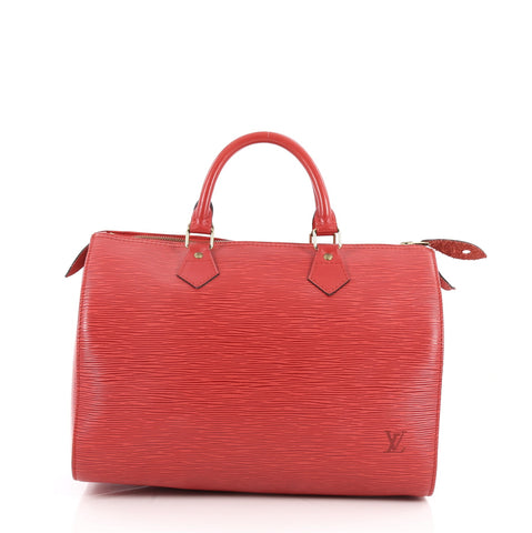 7bd50b2999 Buy Louis Vuitton Speedy Handbag Epi Leather 30 Red 2569901 – Rebag