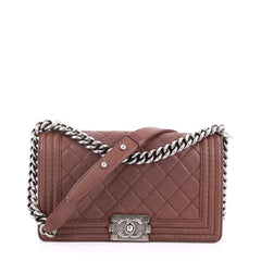 Chanel Stitch Boy Flap Bag Quilted Calfskin Old Medium 2576403