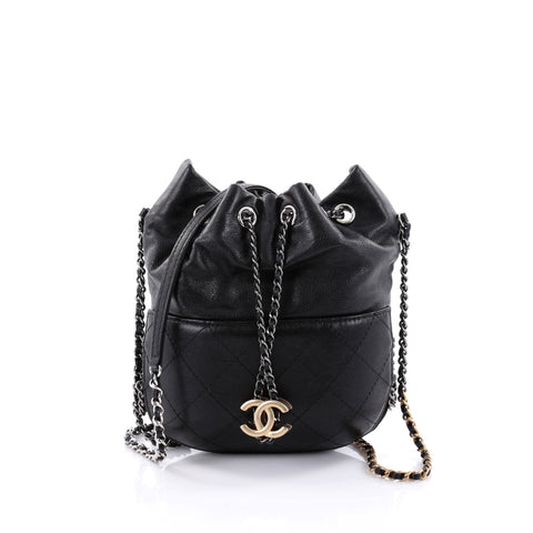 e34802189417 Buy Chanel Gabrielle Drawstring Bag Quilted Calfskin Small 2578302 – Rebag