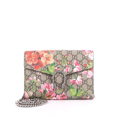 Gucci Dionysus Chain Wallet Blooms Print GG Coated 2581201