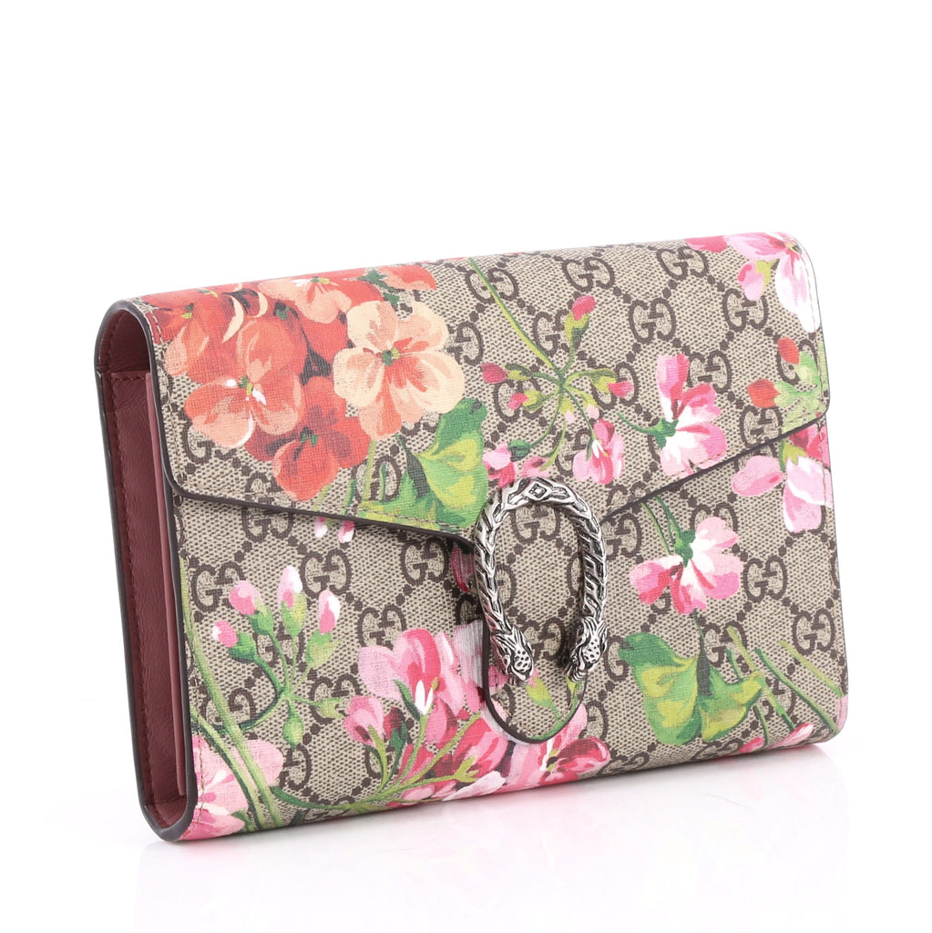 f2320f094f4 Buy Gucci Dionysus Chain Wallet Blooms Print GG Coated 2581201 – Rebag