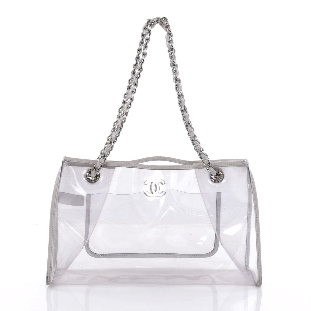 Buy Chanel Naked Tote Bag PVC Large White 2582201 – Trendlee
