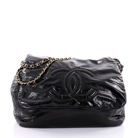 dce4576742e4 Buy Chanel Rock and Chain Flap Bag Patent XL Black 2582501 – Rebag