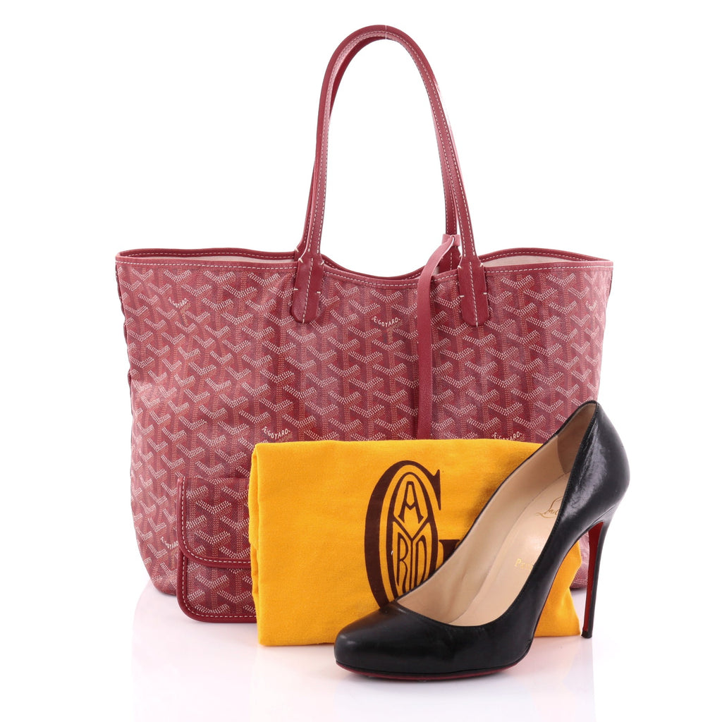 ef7d30b1c66ce Buy Goyard St. Louis Tote Coated Canvas PM Red 2583001 – Rebag
