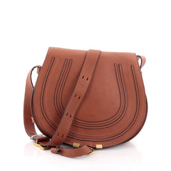 Chloe Marcie Crossbody Bag Leather Medium Brown 2585303