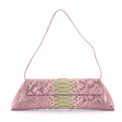 Nancy Gonzalez Flap Clutch Python Long Pink 2586401