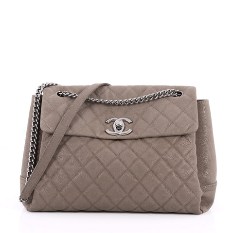 67084b33d25c Buy Chanel Lady Pearly Flap Bag Quilted Matte Caviar Large 2586903 – Rebag