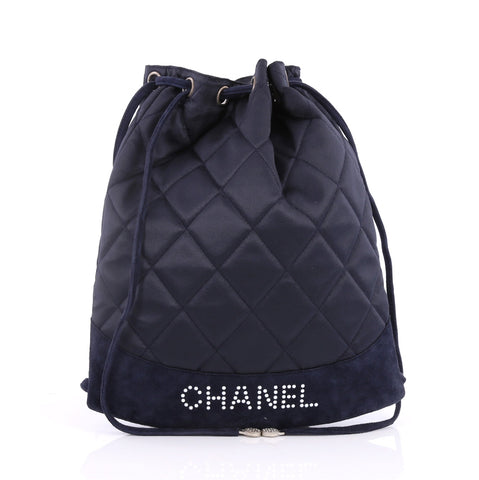 3a928c45794863 Buy Chanel Vintage Drawstring Backpack Quilted Satin with 2587002 – Rebag