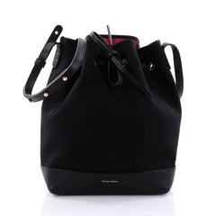 Mansur Gavriel Bucket Bag Canvas Large Black 2587401