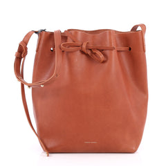 Mansur Gavriel Bucket Bag Leather Large Brown 2587403
