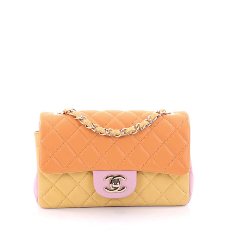 269e63d120d44b Buy Chanel Tricolor Classic Single Flap Bag Quilted Lambskin 2592606 – Rebag