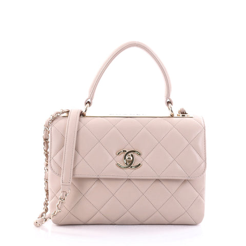 cd9dd4909f3e6 Buy Chanel Trendy CC Top Handle Bag Quilted Lambskin Small 2594501 – Rebag