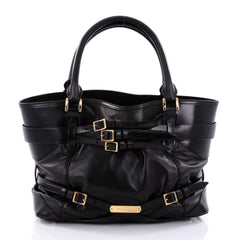 Burberry Bridle Lynher Tote Leather Medium Black 2599201