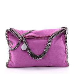 Stella McCartney Falabella Tote Embossed Faux Suede Small Pink 2604802