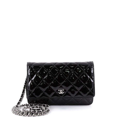 880f9742c207 Buy Chanel Wallet on Chain Quilted Patent Black 2605402 – Rebag