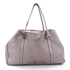 Gucci Twins Tote Guccissima Leather Large Purple 2606901