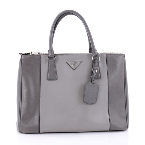 194e2f1412cf Buy Prada Bicolor Double Zip Lux Tote Saffiano Leather 2607603 – Rebag