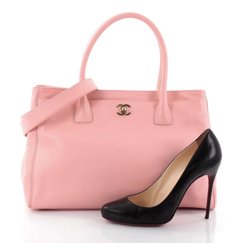 Buy Chanel Cerf Executive Tote Leather Medium Pink 2608103