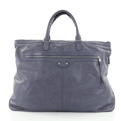 Balenciaga Arena Travel Bag Classic Studs Leather Purple 2609001