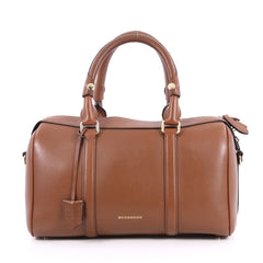 Burberry Alchester Convertible Satchel Leather Medium Brown 2610601