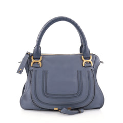 Chloe Marcie Satchel Leather Medium Blue 2616004