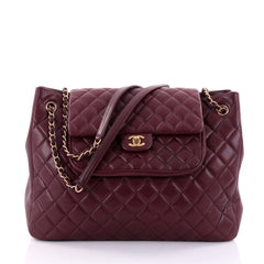 Chanel Classic Flap Shopping Tote Quilted Caviar Large Red 2616301