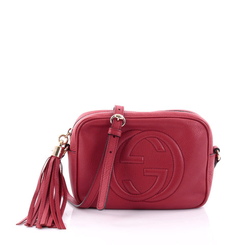 ce41ba9389b650 Buy Gucci Soho Disco Crossbody Bag Leather Small Red 2622503 – Rebag