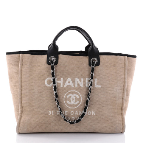89bfe932719 Deauville Chain Tote Canvas Large