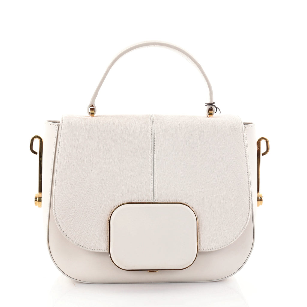Tod's. Racing Bandoliera Shoulder Bag Calf Hair with Leather Small