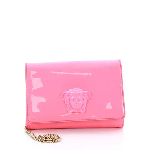 df0ec2323981 Buy Versace Palazzo Chain Crossbody Bag Patent Pink 2628601 – Rebag