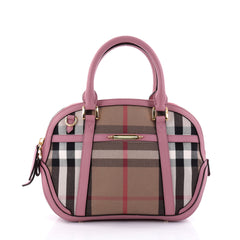 Burberry Bridle Orchard Bag House Check Canvas Medium purple 2629302