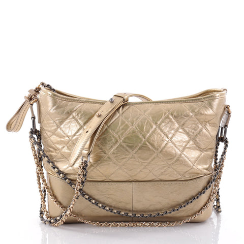 b61658d55eb6 Buy Chanel Gabrielle Hobo Quilted Aged Calfskin Medium Gold 2630002 – Rebag
