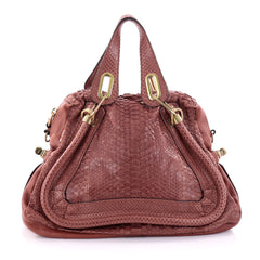 Paraty Top Handle Bag Python Medium