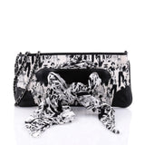 Chanel Limited Edition Scarf Pochette Printed Silk and Leather White 2632604