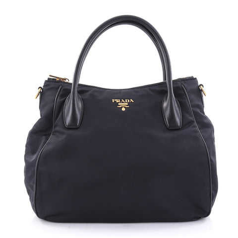 Buy Prada Sacca 2 Manici Convertible Tote Tessuto Medium 2633404 – Rebag dcbb05400f0