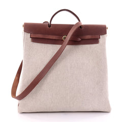 Hermes Herbag Toile and Leather MM Neutral 2633601