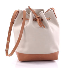 Mansur Gavriel Bucket Bag Canvas Large Neutral 2636101