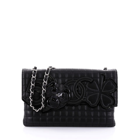 de7a641c6a97 Buy Chanel Camellia No.5 Chain Flap Bag Quilted Lambskin 2637602 – Rebag