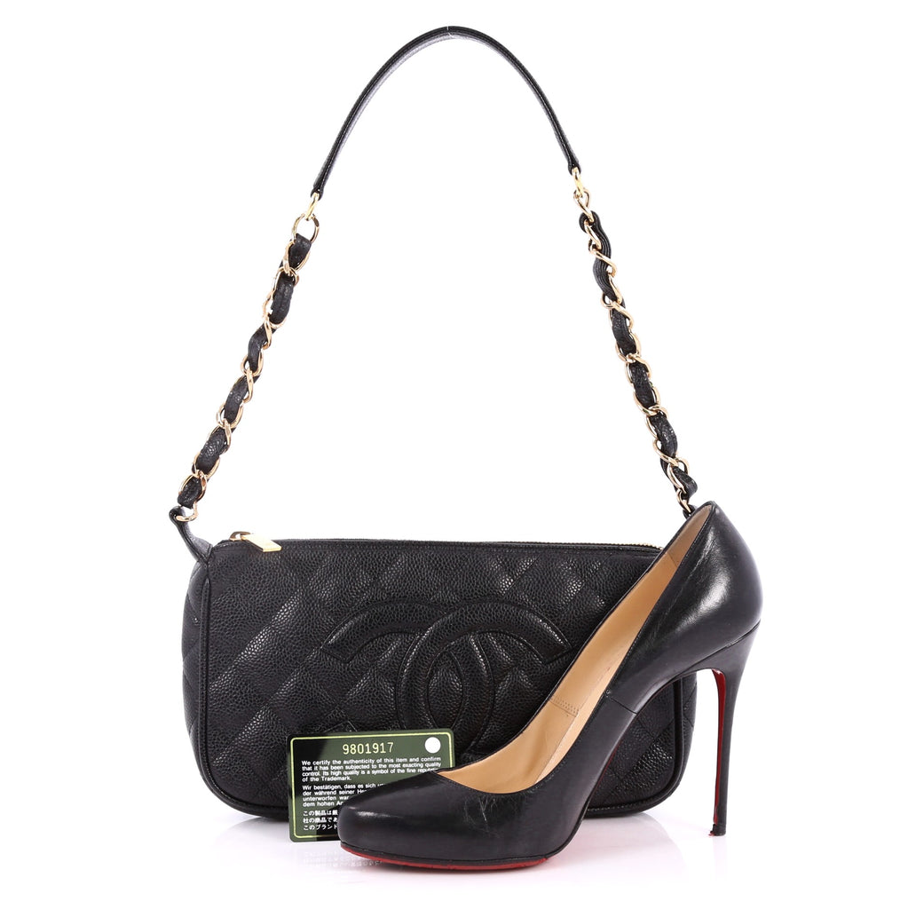 Buy Chanel Timeless Cc Chain Shoulder Bag Quilted Caviar