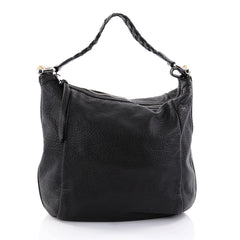 Gucci Bamboo Bar Hobo Leather Medium Black 2639001