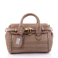 Gucci Handmade Satchel Leather Medium Neutral 2639203