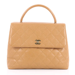 Chanel Vintage Classic Top Handle Flap Bag Quilted 2639803