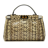 Fendi Peekaboo Glazed Python with Suede Interior Small