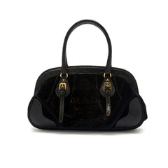 Prada Frame Bag Velvet With Leather Trim Medium